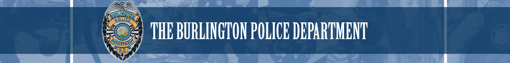 Burlington Police Department's Banner
