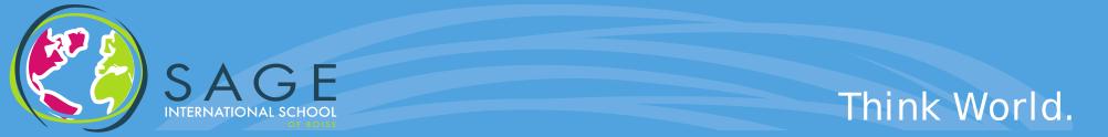 Sage International School's Home Page