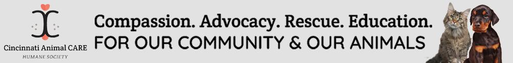 Cincinnati Animal CARE Humane Society's Banner