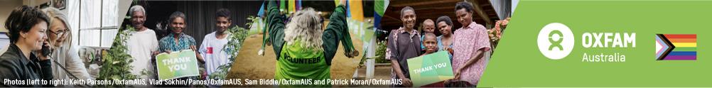 Oxfam Australia's Banner