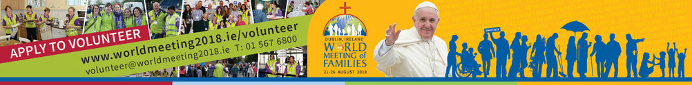 World Meeting Of Families 2018 - Volunteers's Banner