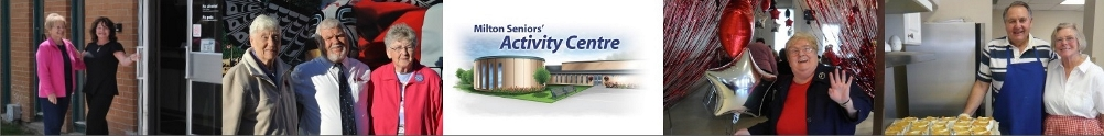 Town of Milton - Seniors Activity Centre's Banner