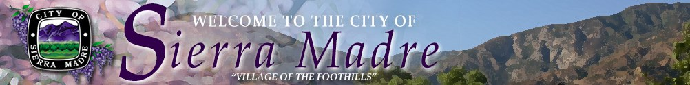 City of Sierra Madre - Community Services's Banner