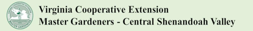 Extension Master Gardener Volunteer Program - Central Shenandoah Valley's Banner
