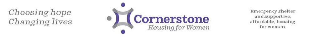 Cornerstone Housing for Women's Banner
