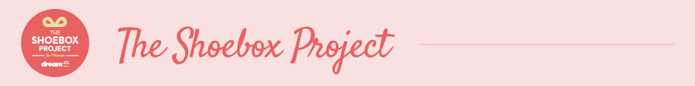 The Shoebox Project for Women's Banner