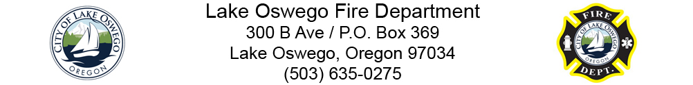 City of Lake Oswego - Fire Department's Banner