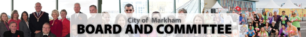 City of Markham - Board & Committee's Banner